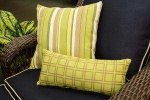 GeoBella<sup>®</sup> Sitzpolstergewebe für außen in Gelbtönen und Grün