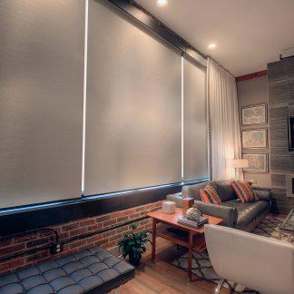 Blackout SheerWeave® 7200R da Phifer/Proteção solar com filtro de luz 7250R para interiores